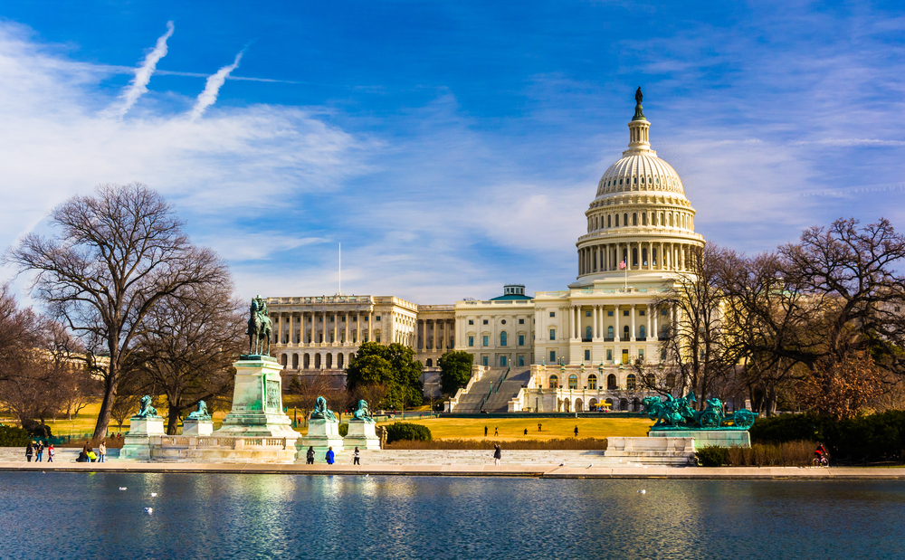 The Capitol and Reflecting Pool in Washington, DC.-RAW