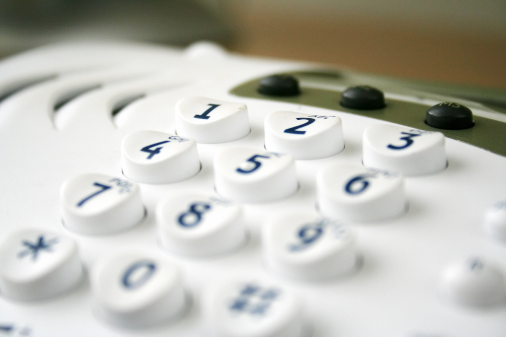 keypad close up, shallow depth of field
