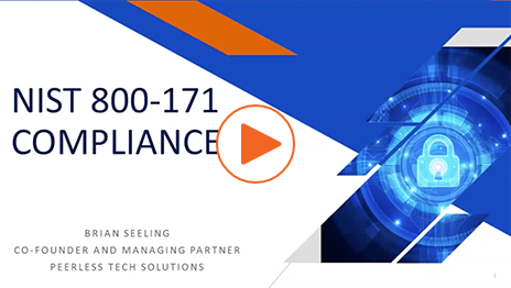 NIST 800-171 Compliance Webinar