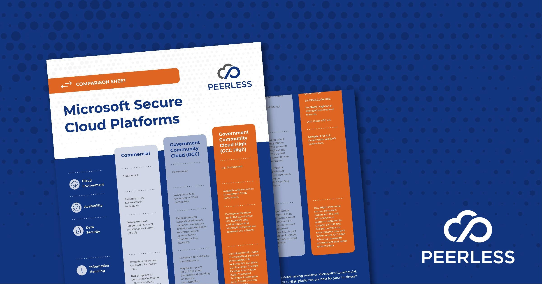 Comparison Sheet: Microsoft Secure Cloud Platforms